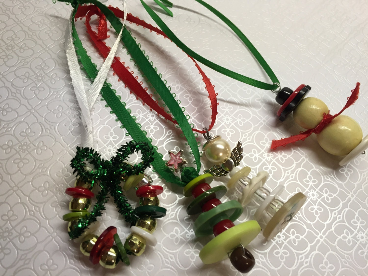 Set of 4 Christmas Ornaments
