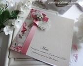 Stunning Mother of the Bride Card Vintage Rose & Dusky Pink