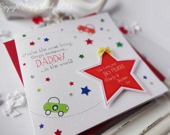 Colourful Cute Cars & Stars Handmade Card!