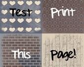 Rustic Love - Four 12x12 Instant Download Digital Art Journal Scrapbook Sheets
