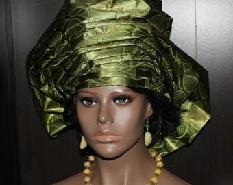 Pret a porter pre made african gele headwrap by monbochapohat for Pre a porter