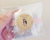 50 Wedding Bridal Shower Favor: Bath Teas 3-pack, lavender bath soak