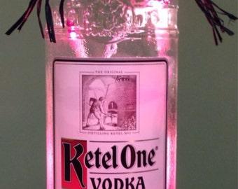 Lighted Bottle Kettle One Vodka