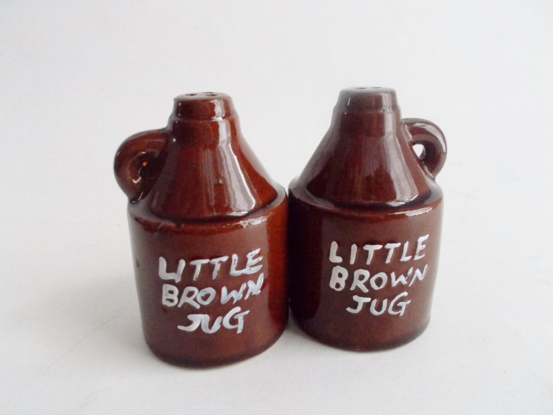 Vintage Salt And Pepper Shakers Little Brown Jug By