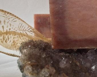 Organic Soap, Sandalwood, Cedar, Rose Clay, Cold Process All Natural Soap, Moisturizing Soap