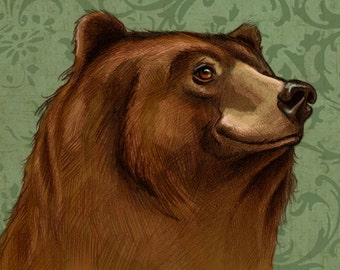 Grizzly Bear - Giclee Art PRINT - By Corina St. Martin