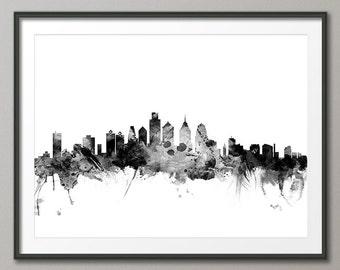 Philadelphia Skyline, Philadelphia Pennsylvania Cityscape Art Print (1457)