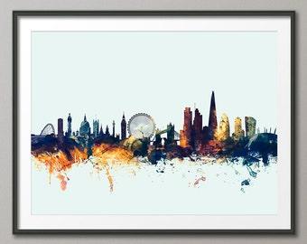 London Skyline, London Cityscape England, Art Print (1580)