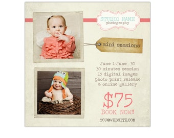 INSTANT DOWNLOAD  - Photography Marketing board - Newsletter  template -E497-3