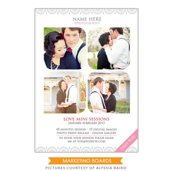 INSTANT DOWNLOAD - Photography Marketing board - 5x7 Newsletter  template -E498-3