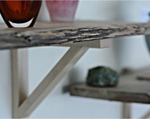 SALE 1 piece of Live Edge Wood Shelving, Shelving Unit, Reclaimed Wood, Reclaimed Pine, Reclaimed Shelves