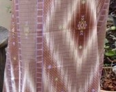 man's sarong brown diamond with purple edging PP12