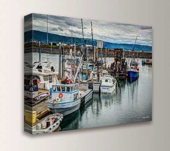 "Ready To Hang Canvas - Photography - Canvas Print - Photo of Boats in Harbor - Wall Decor - "" Harbor 1"""