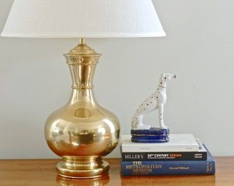 Vintage Marbro Brass Lamp Table Lamp 1940s Old Hollywood Regency Decor