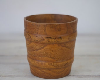 Beautiful Hand Turned Wood Vase Jar Bowl