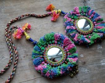 Camel Swag ribal Pom-Pom Tassel Accessory for hair or belt Boho Hippie Banjara style by Chandrika Shop