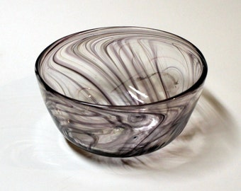 Hand Blown-Feathered-Glass-Bowl