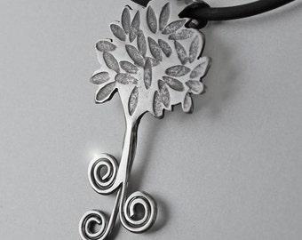 Spiral Tree Pendant, Silver Jewelry, Silver Pendant, Tree Pendant, Silver Jewellery