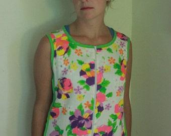 Fantastically Colorful 60's Shift Dress