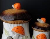 Mushroom Canister Mad Men Cookie Jar Biscuit Tins Vintage Home Decor Mid Century Modern Serving Ceramics Pottery Kids Serving Gifts Love