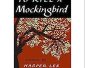 To Kill a Mockingbird Book Kindle cover, Nook cover or mini iPad Cover- Ereader Case