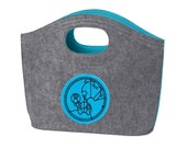 Felt Tote with your monogram in Gallifreyan
