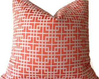 Pillows,  Throw Pillows,  Tangerine Pillow,  Geometric Pillow,  High End   Pillows, Designer Fabric