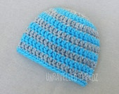 Crochet Newborn Hat, Baby Beanie, Newborn Boy Hat, Photo Prop Hat
