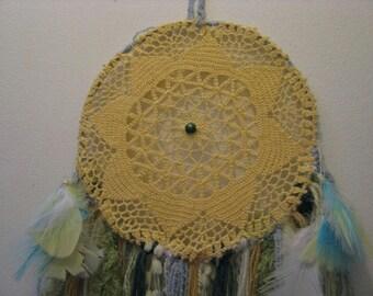 Dreamcatcher -  Wall Hanging - Home decor - Sunflower -Shabby Chic -Boho - Indian - Freespirit - Gypsy - Dream Catcher - Dream