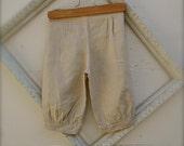 size 1-3 or  4-6 years linen beige tan KNICKER PANTS,  linen beige knickers for little boys,  linen pants for boys, ring bearer