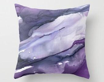 Throw Pillow, Purple Haze, pillow cover, Lavendar Abstract  IN STOCK