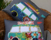 Camper Van Cushion PDF Pattern - instant download