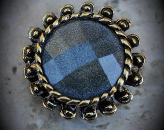 Brass Crystal 2 Hole Large Sliders - 7315