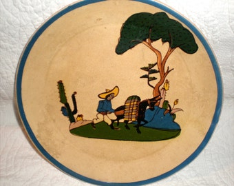 Large Yellow Tlaquepaque Plate