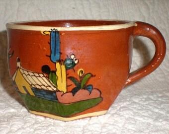 Red Tlaquepaque Cup With No Saucer
