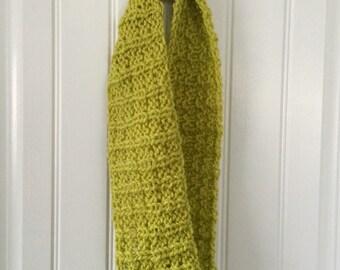 Green Handknit Infinity Scarf - Cowl