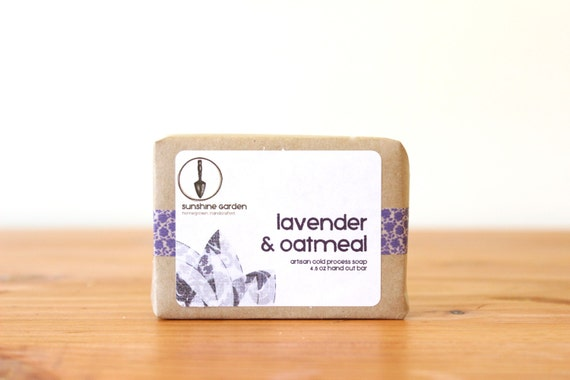 Lavender Oatmeal Organic Cold Process Soap by asunshinegarden
