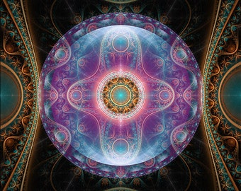 ANIMA -  Original Mandala , Spiritual, Psychedelic, Shamanic, Ayahusaca Art, printed on archival photopaper