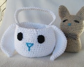 Cute Crocheted Easter Bunny Basket