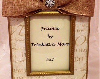 Gold Love Picture Frame  Ready to Ship!!