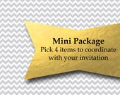 Mini Package Birthday or Baby Shower Pack Package Invitation  - You Print