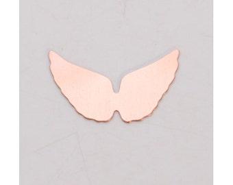 Copper Angel Wings 29mm x 16mm  24ga PKG of 6