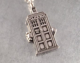 Phone Booth Locket Necklace