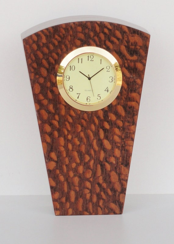 Modern Lacewood Desk Clock by soliddesign on Etsy