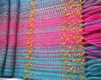 Handwoven Multicolor Scarf - Soft Scarf  - Winter Scarf - Warm Scarf
