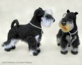 101 Miniature Schnauzer dog with wire frame - Amigurumi Crochet Pattern PDF file by Chirkova Etsy