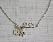 Birds on a Branch Charm Necklace