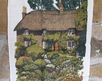 Hardy's Cottage Irish Linen Tea Towel, Designed for the National Trust by Lee Perry, Thomas Hardy's Cottage, Historical, Kitchen, Towel