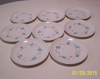 "Vernon's "" Heavenly Days"" Saucers (set of 8 )"