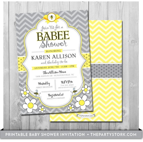 Bee baby shower invitation printable mommy to bee invitations free il570xn filmwisefo